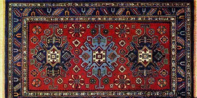 Табасаранский ковер- сумах, шерсть